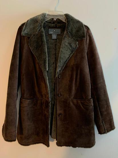 Free Country, Ladies, Leather and Suede Coat, Size Small