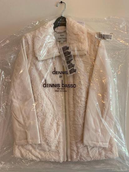 Dennis Basso, Size Medium, New in Bag, Ladies Coat, Ivory