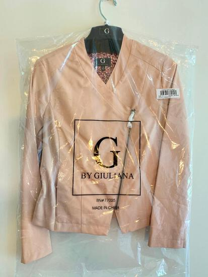 G by Giuliana, Size Medium, Color Blush, Polyester, Ladies Jacket