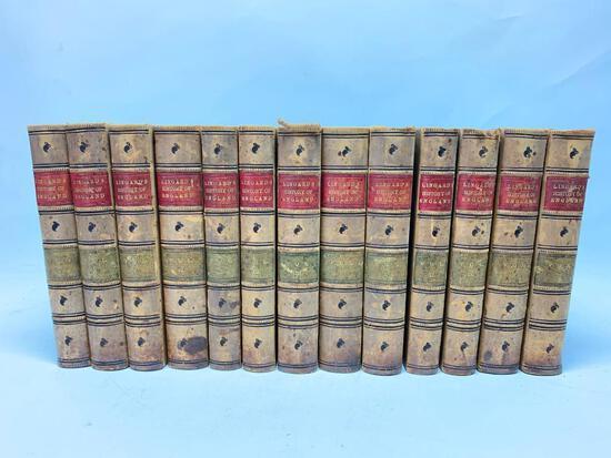 "John Lingard. The History of England, NY; O'Shea, 1862. Thirteen Volumes, Bound in 3/4"" Leather"