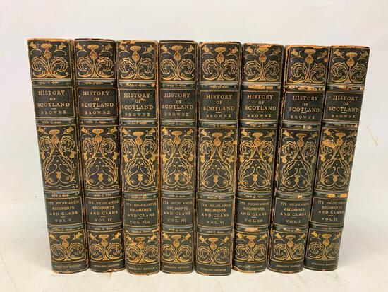 Browne. History of Scotland: Its Highlands, Regiments, and Clans, Sterling Editon, 8 Volumes