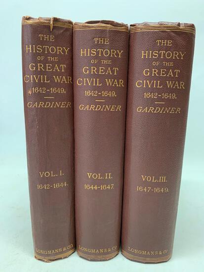 Samuel Gardiner. History of the Great Civil War. London: 1886, Three Volumes