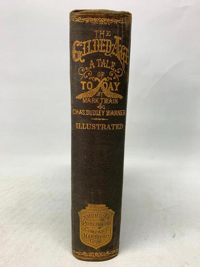 Mark Twain. The Gilded Age. 1901 Printing in Fine Condition