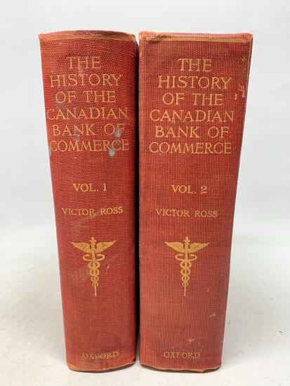 Victor Ross. A History of the Canadian Bank of Commerce. Toronto: 1920 1st Edition, Two Volumes