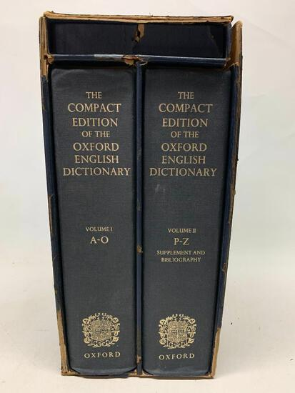 The Compact Oxford English Dictionary. Two Volume Boxed Set