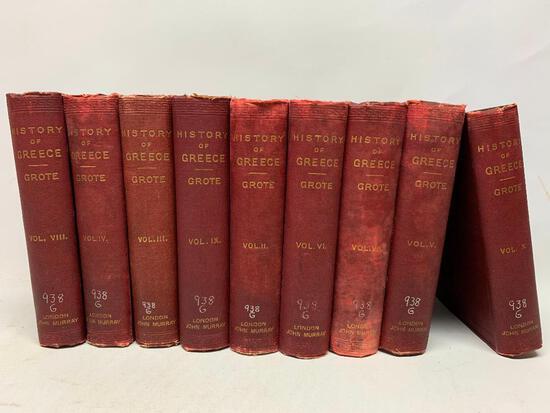 George Grote, History of Greece, John Murray, Albemarle Street, 1888, Ten Volumes
