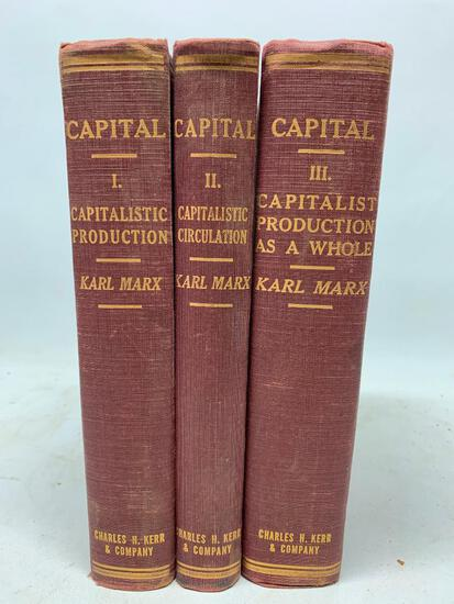 Karl Marx. Capital. Chicago: Charles Kerr, 1906. Three Volumes