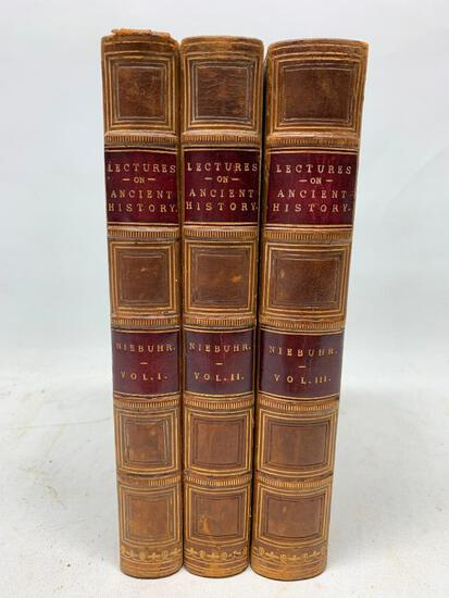 Niebuhr. Lectures on Ancient History. London: Walton, 1852 1st Ed, Full Leather, Three Volume Set