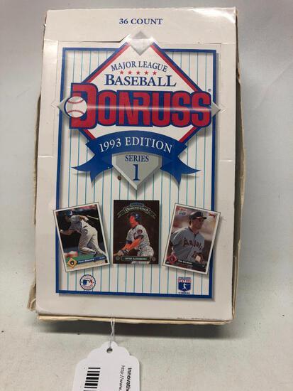 33 Foil Packs of 1993 Edition, Donruss Series 1 in Original Box