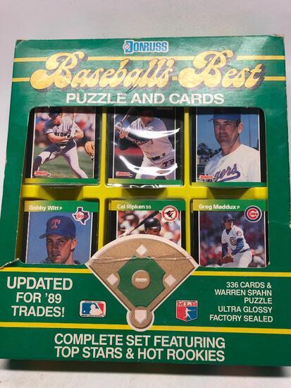 1989 Donruss Baseballs Best Puzzle and Cards Set
