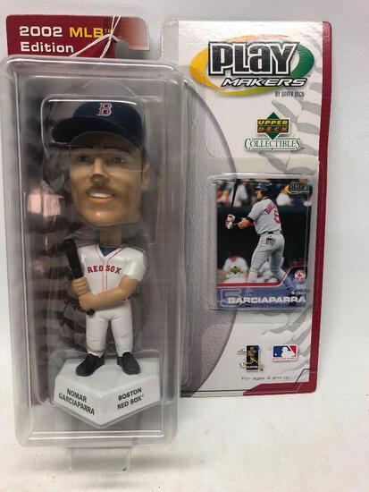 2002 MLB Edition, Upper Deck Play Makers, Nomar Garciaparra, Bobble Head in Original Packaging
