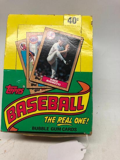 32 Packs of 1987 Topps Major League Baseball Cards in Original Box