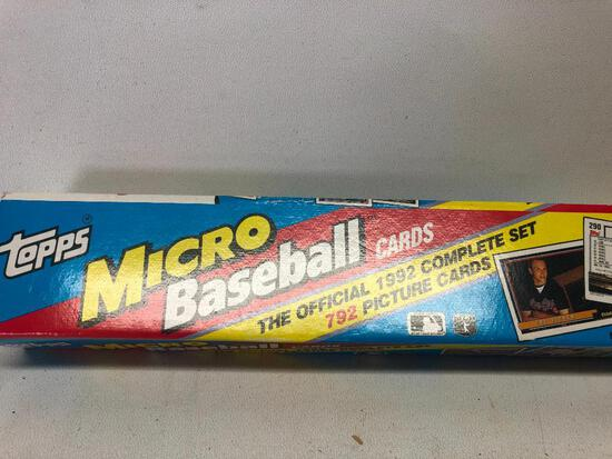 1992 Topps MIcro Baseball Card Set with Picture Cards in Original Box