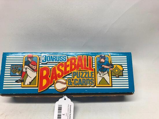 1989 Donruss Baseball Puzzle and Card Set in Box