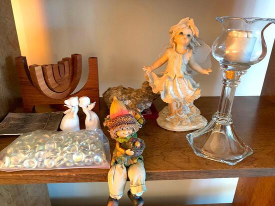 Misc, Shelf Lot of Decorative Items as Pictured