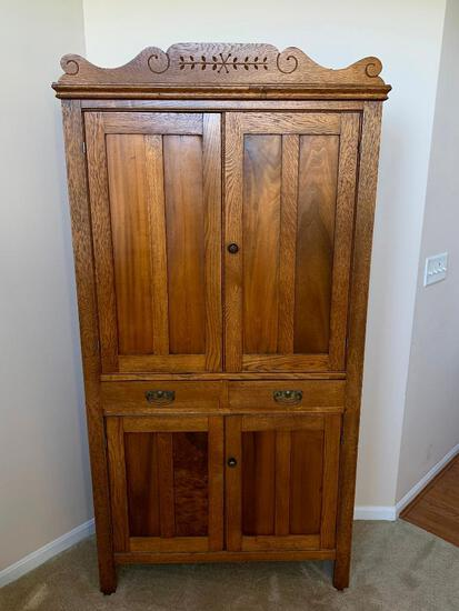 Antique Pie/Jelly Cupboard with Two Drawers