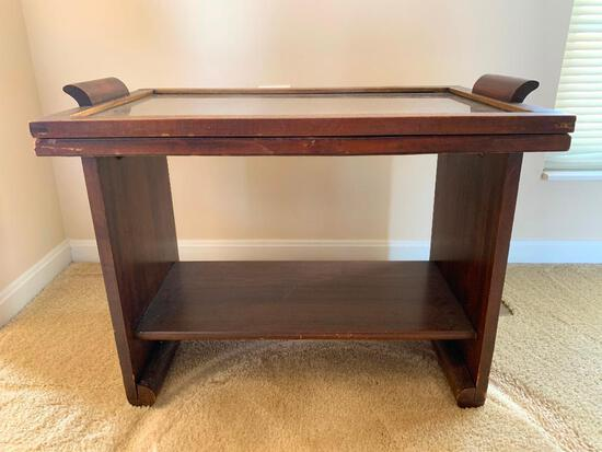 Vintage Deco Style Coffee Table with Removable Tray