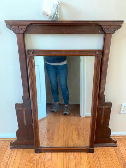 Antique Mirror with Frame as Pictured