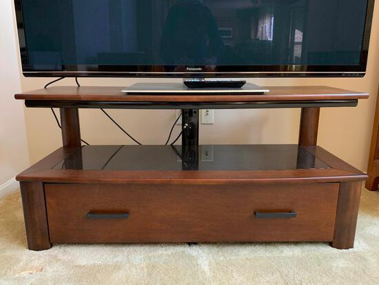 Wood and Glass Television Stand
