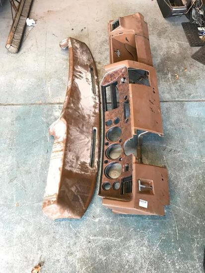 What Appears to be a 1970's Era GMC Truck Dash and Pad, No Gauges