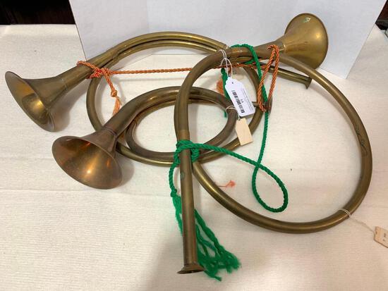 Set of 3 Brass Horns