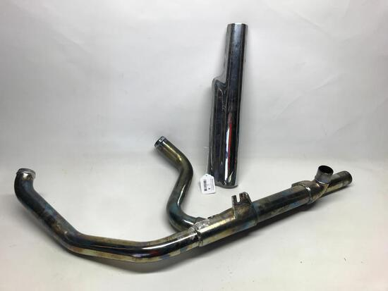 Used Harley Davidson Exhaust Marked 66855-10A 60313 1321-2 Catalyst and Heat Shield