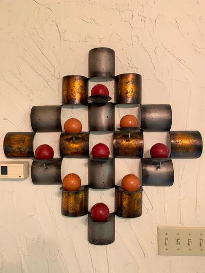 Decorative, Metal Wall, Candle Holder as Pictured