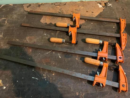 Pair of Metal Wood Clamps