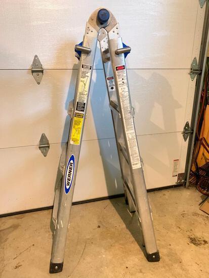 Werner, Folding Aluminum Ladder