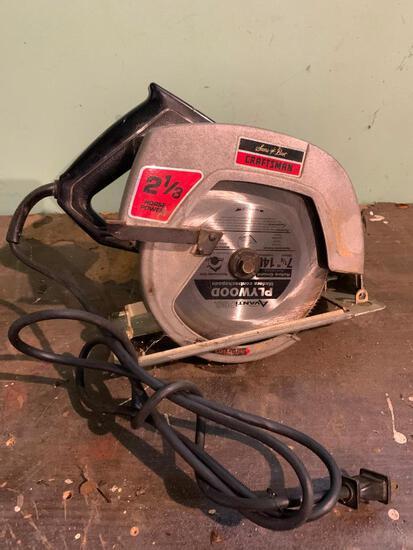 """Craftsman 2 1/4HP; 7 1/4"""" Blade Circular Saw Working"""