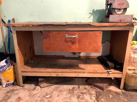 Home Made Work Bench with a Drawer