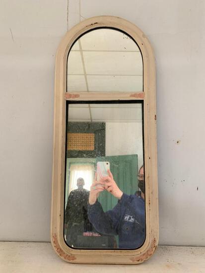 Vintage, Oval Wood Mirror