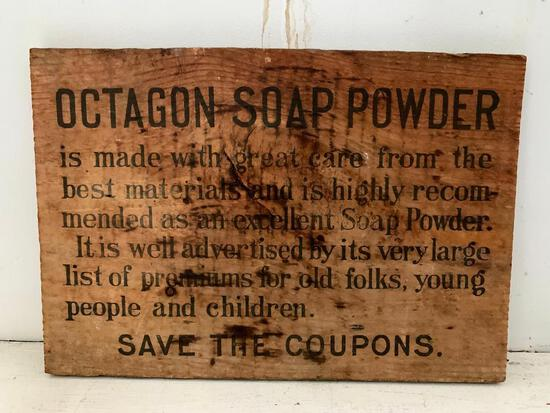 What Looks Like The End of a Octagon Soap Powder, Wood Crate