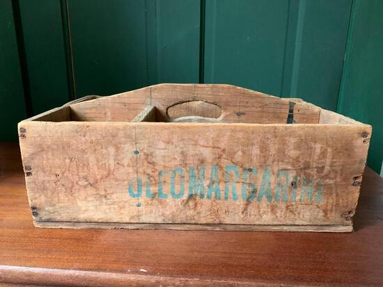 Antique Crate with Handle of Oleo Margarine