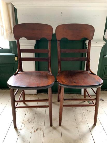 Three Antique Wood Chairs