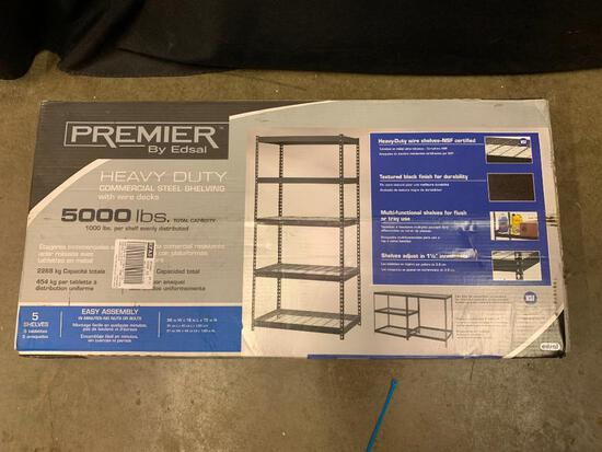 Premier by Edsal, Heavy Duty Commercial Shelf. Holds up to 5000 Lb