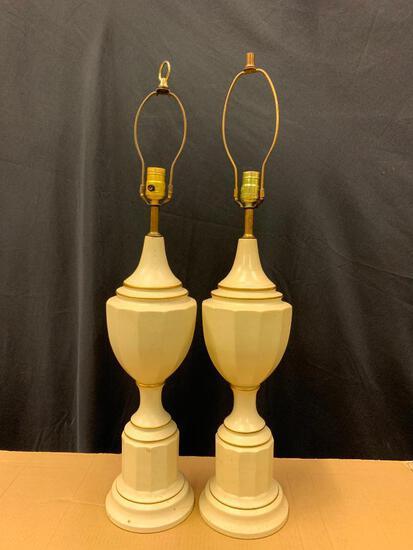 Pair of Vintage Plaster Lamps