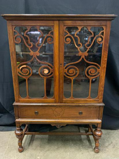 """Antique China Cabinet 5' Tall x 40"""" Wide x 16"""" Deep"""