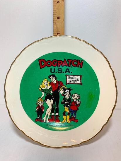 """DogPatch Decorative Plate """"Good is Better than Evil Because it's Nicer"""". This Item is 7.25"""" Diameter"""