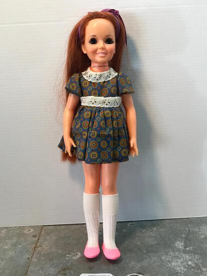 A 1968 Ideal Rubber Doll, 18 Inches Tall