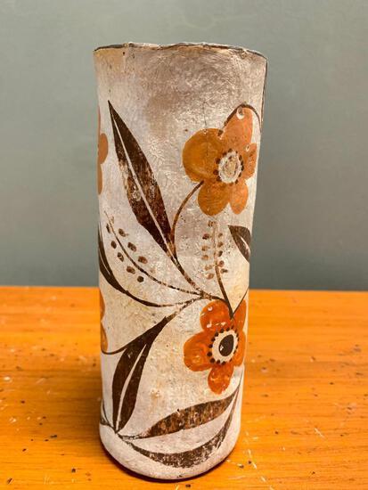 "Native American, Polychrome Pottery Vase, 7"" Tall"