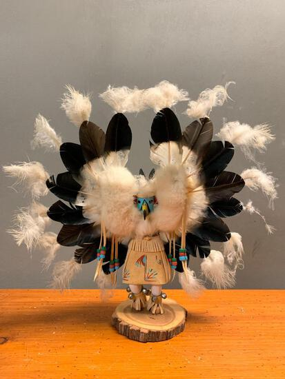 """Hand Made Eagle Kachina, Signed on the Bottom by Pauline Yazzie, 16"""" Tall"""