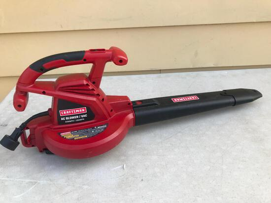Craftsman AC Blower/Vac 235 MPH/150 MPH with Mulching Ratio 14:1. This Item Shows Some Use.