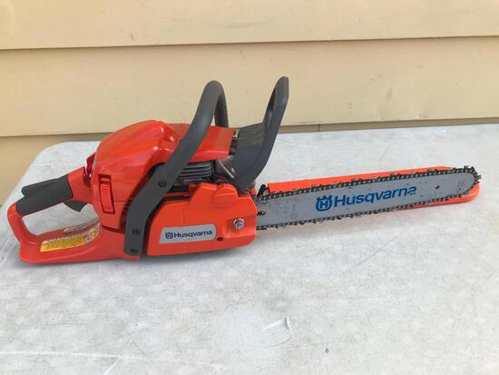 """Husqvarna 445 X-Toro Chainsaw with 13"""" Blade. Shows Little or No Use"""