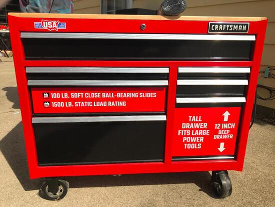 Craftsman Rolling Workbench with Drawers- 100lb Soft Close Bearing Slide. 1500lb Static Load