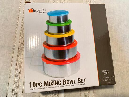 Imperial Home, 10 Piece Mixing Bowl Set in Box with Lids