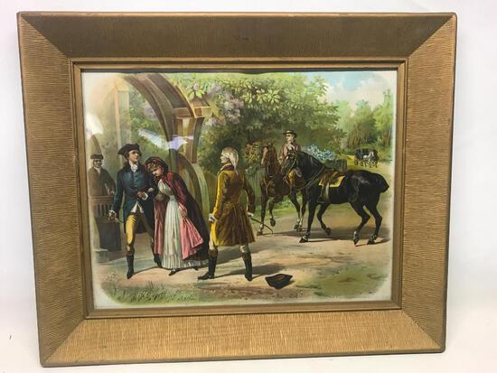 "23"" x 19"" Victorian Style with Gold Frame Print - As Pictured"
