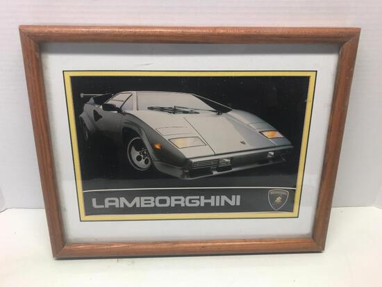 "15"" X 31"" Framed Print of a Lamborghini - As Pictured"