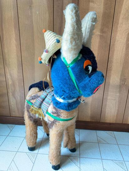 """Very Cute Large Stuffed Llama from Mexico. Stands 91"""" Tall. - As Pictured"""
