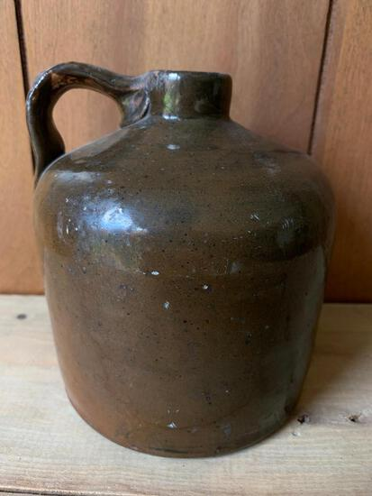 """Small Pottery Eared Jug. This is Approx. 6"""" Tall and 5"""" in Diameter"""